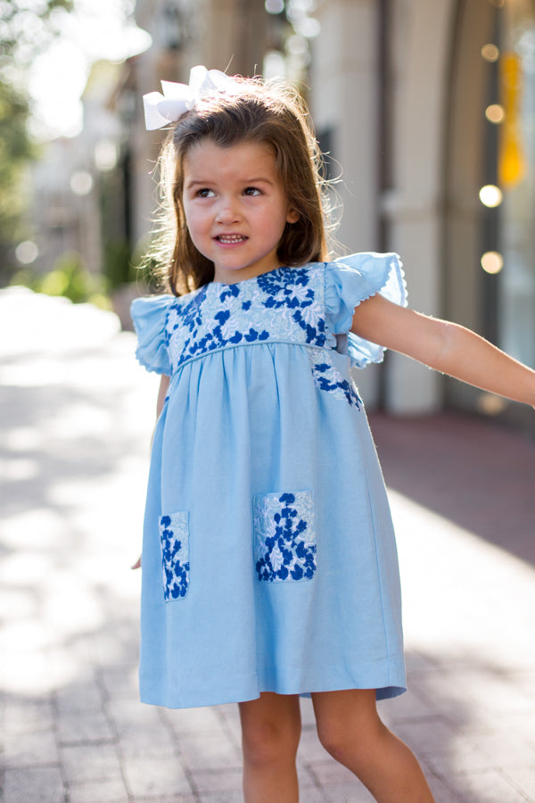 The Palmer Baby Dress - Light Blue