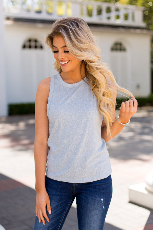 Z Supply Distressed Tank Top - Allure Blue