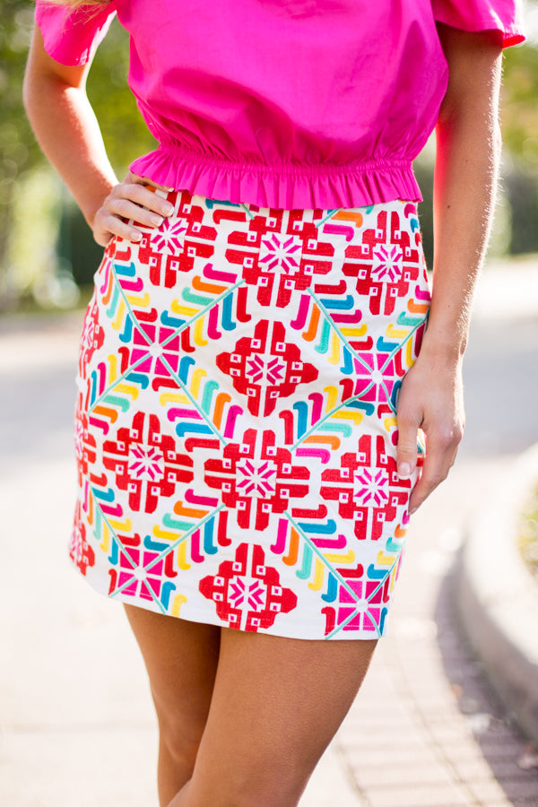 The Mckenna Skirt- White