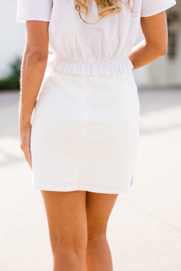 The Marina Skirt- Periwinkle
