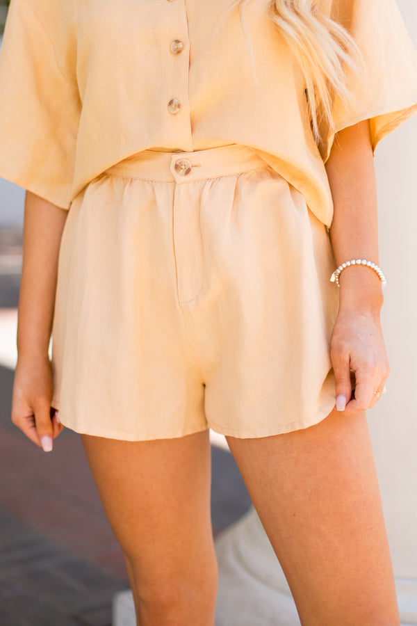 Amuse Society Canopy Shorts - Latte