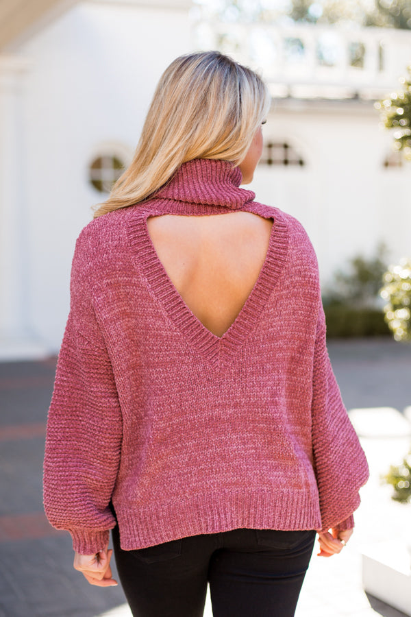 Back At You Sweater- Rose