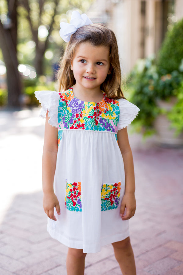 The Marie Baby Dress - White