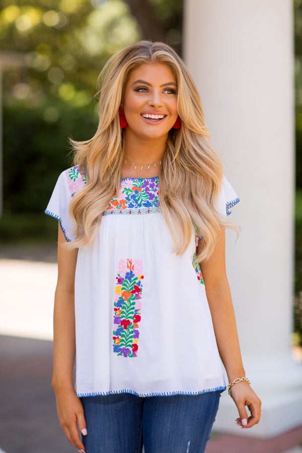 The Andrea Top- White