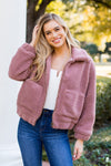 Teddy Girl Jacket- Mauve