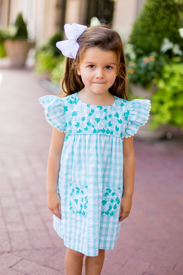 The Savannah Baby Dress - Mint