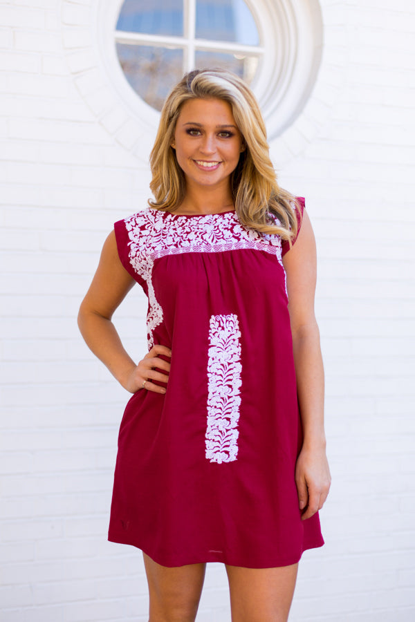 The Alexa Dress- Crimson