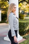 Leather Forever Jacket- Grey