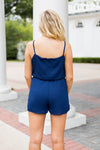 Just Add Boots Romper- Navy