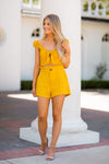 Sweet Like Summertime Shorts- Mustard