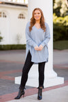 Z Supply Waffle Thermal Tunic Top - Ashley Blue