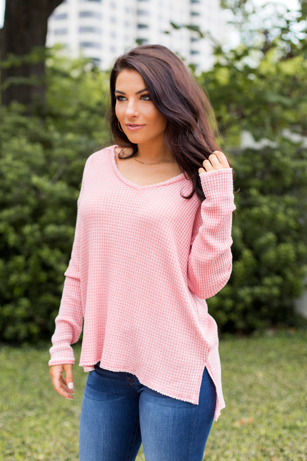 Keep Me In Coral Sweater