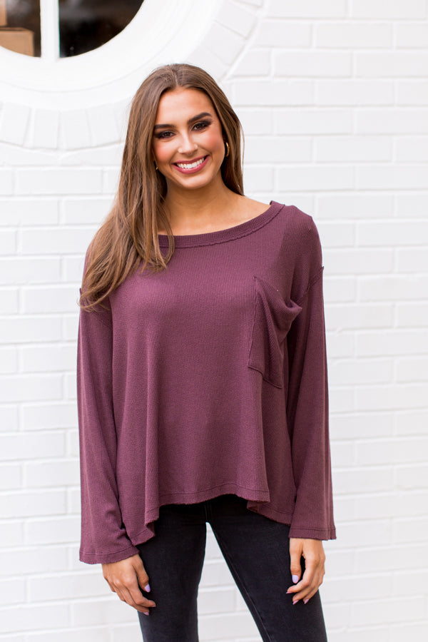 Falling Into Fall Sweater - Plum