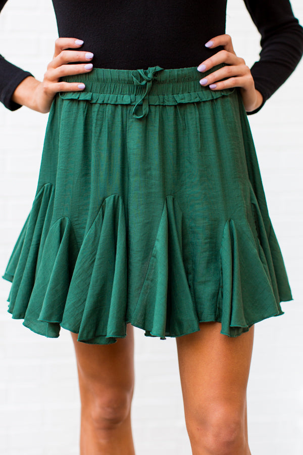 Pleats On Earth Skort - Green