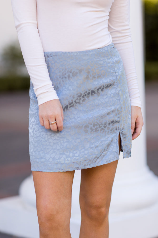 Cheetah Sister Skirt - Dusty Blue