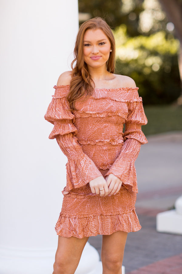 Fall Carnival Queen Dress - Terracotta