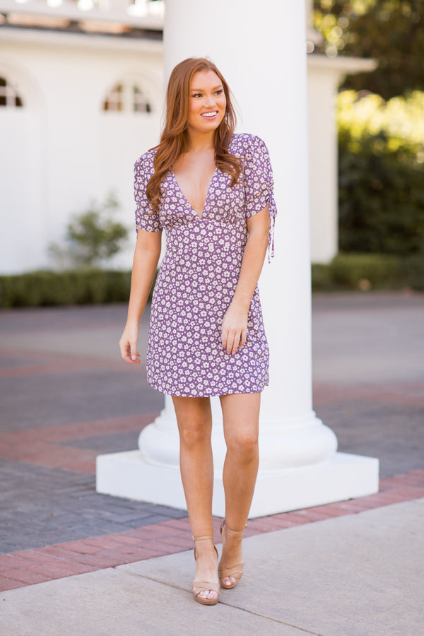 Big City Dreaming Dress - Lavender
