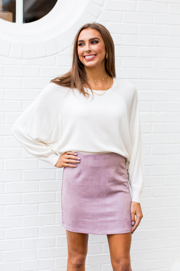 Simply Suede Skirt - Lavender