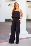 Suit Up Jumpsuit - Black