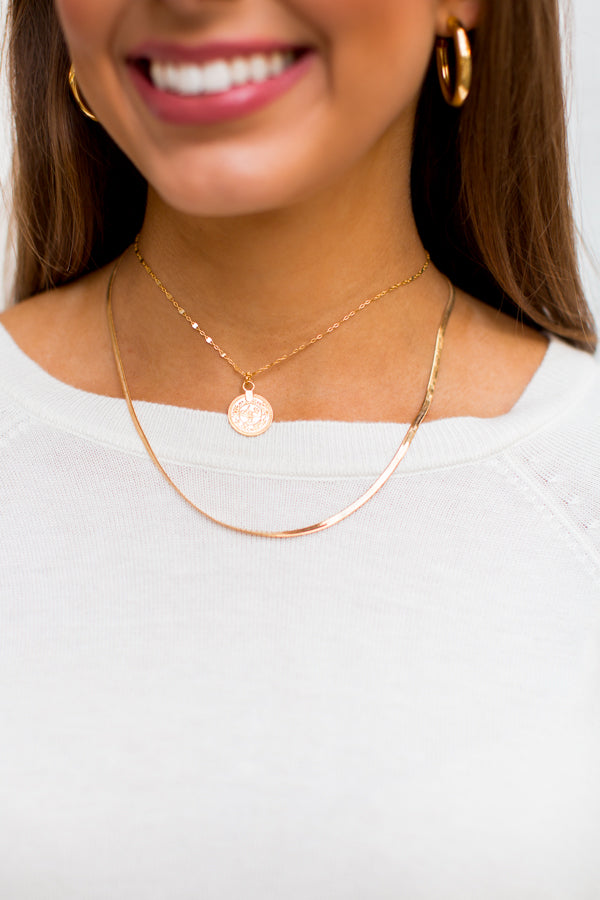 Get Your Shine On Necklace - Gold