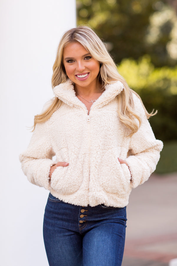 Are You Ready Teddy Jacket - Ivory