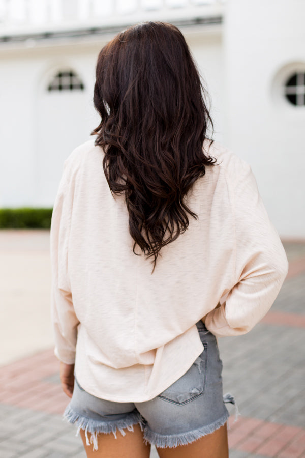 Lovely Long Sleeve Top- Pale Pink