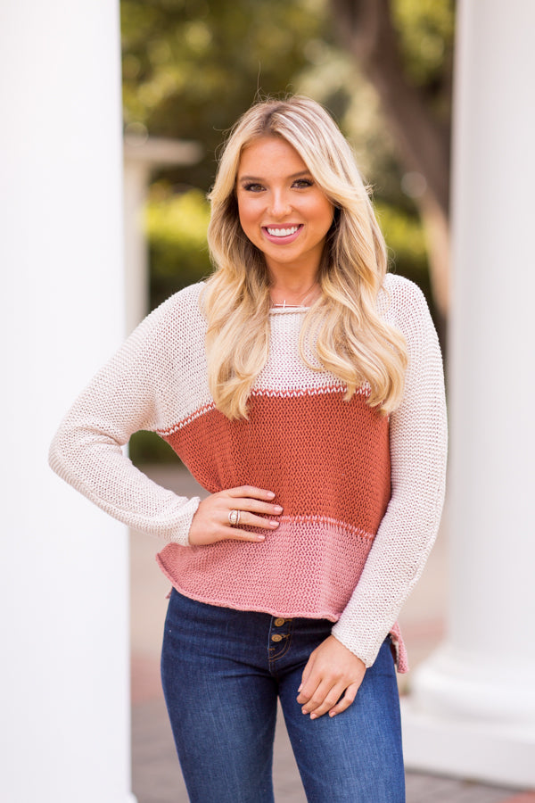 Sweet As Sunset Sweater - Multi