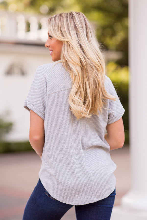 Spinning A Web Top - Heather Grey