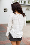 Into Ivory Distressed Top