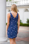 Blue As A Bonnet Dress- Navy