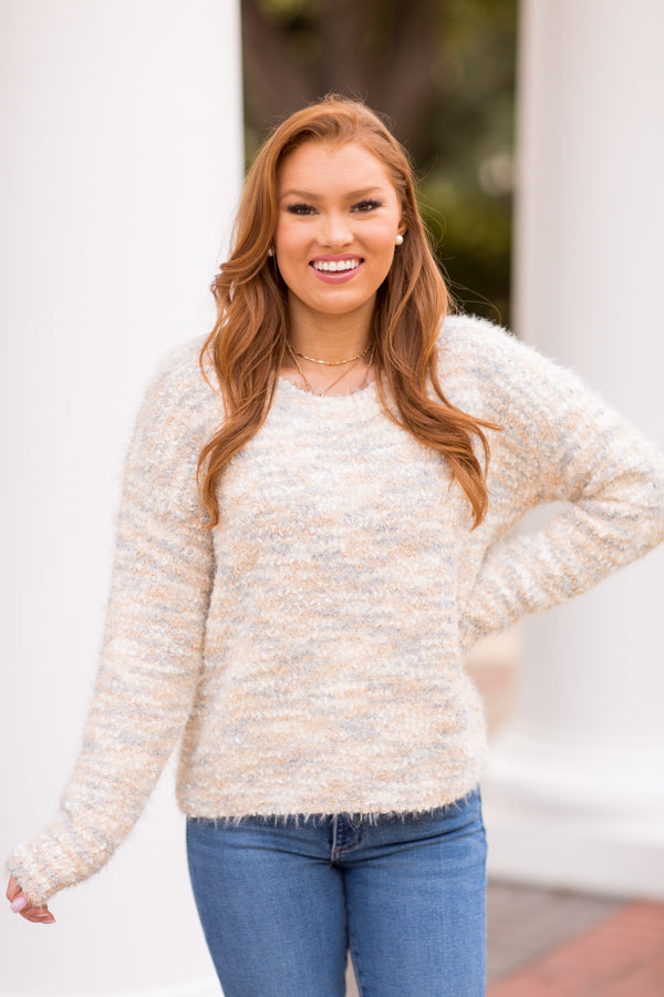 Snow Capped Sweater - Neutral Multi