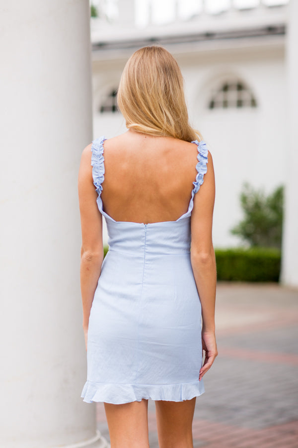 Summer Charmer Dress- Sky Blue