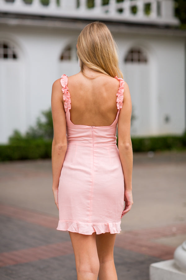Summer Charmer Dress- Peach