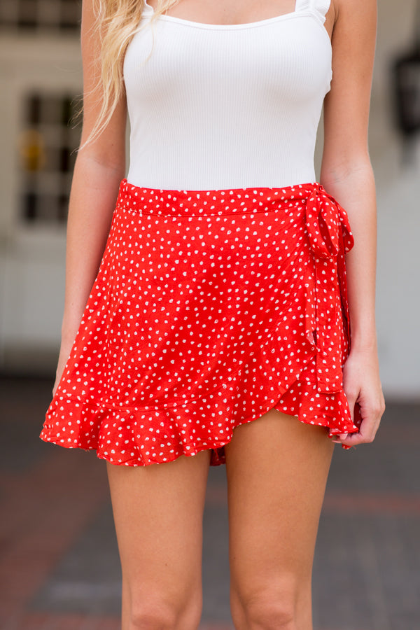 Sunday Funday Skort- Red
