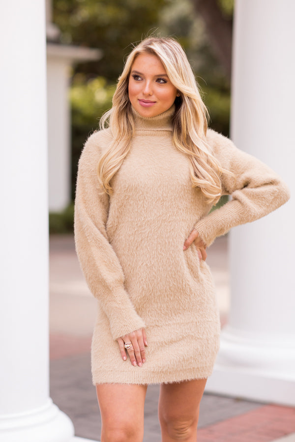 Spice Things Up Sweater Dress - Nutmeg