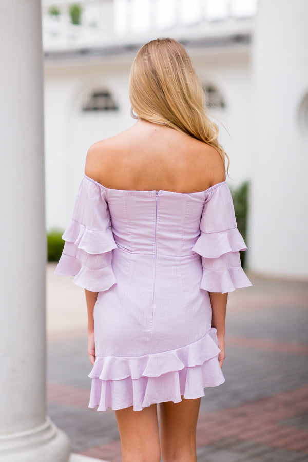 She's A Showstopper Dress- Lavender