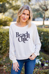 Amuse Society Beach Chic Pullover- Vintage White