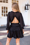 Forever Frilled Dress - Black