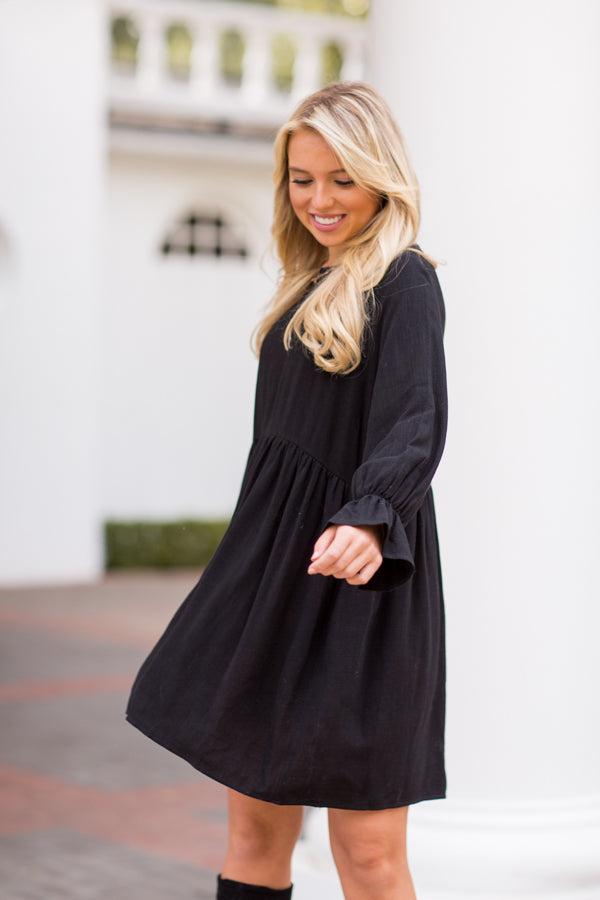 Before The Leaves Fall Dress - Black