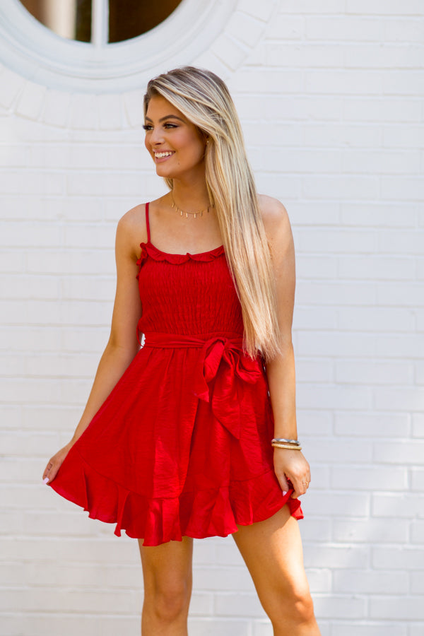 Wishing For The Weekend Dress - Red
