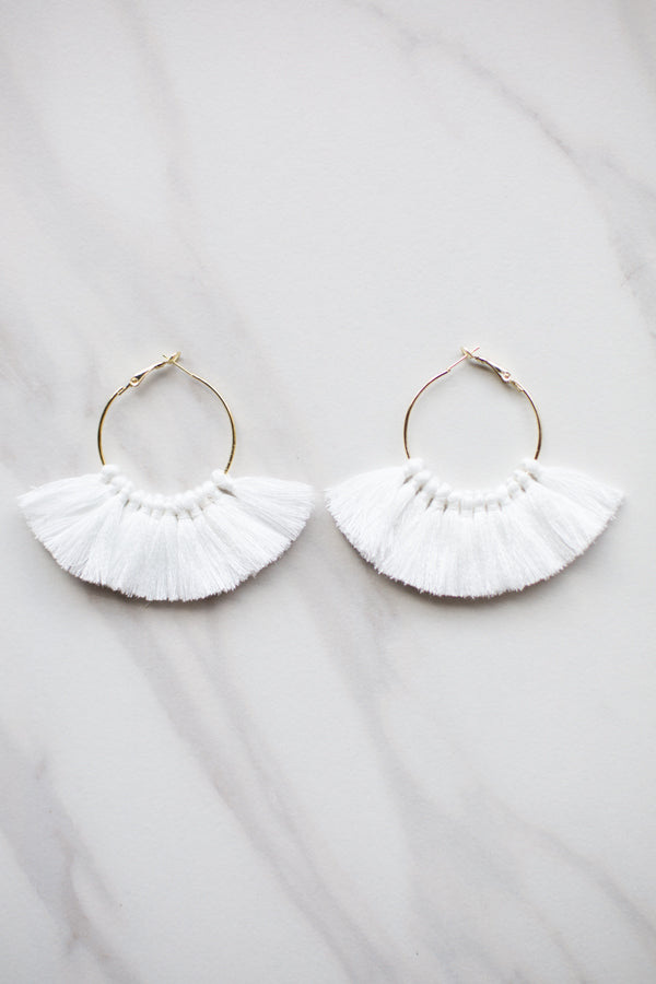 Fanfare Earrings- White
