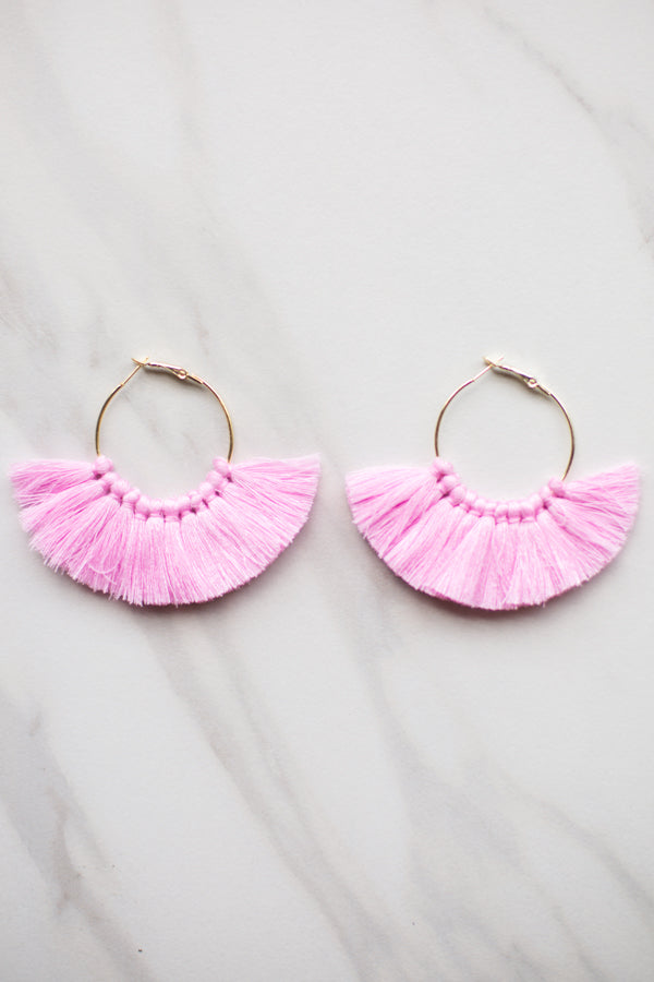 Fanfare Earrings- Pink