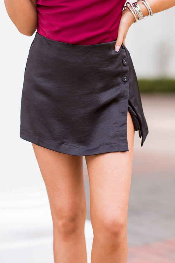 Apple Cider Sippin' Skort - Black