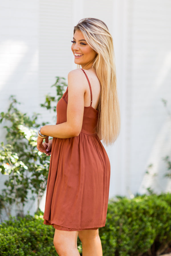 Late To Brunch Dress - Sedona