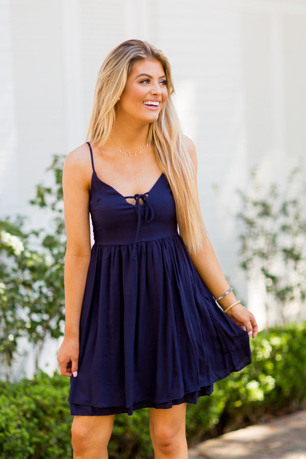 Late To Brunch Dress - Navy