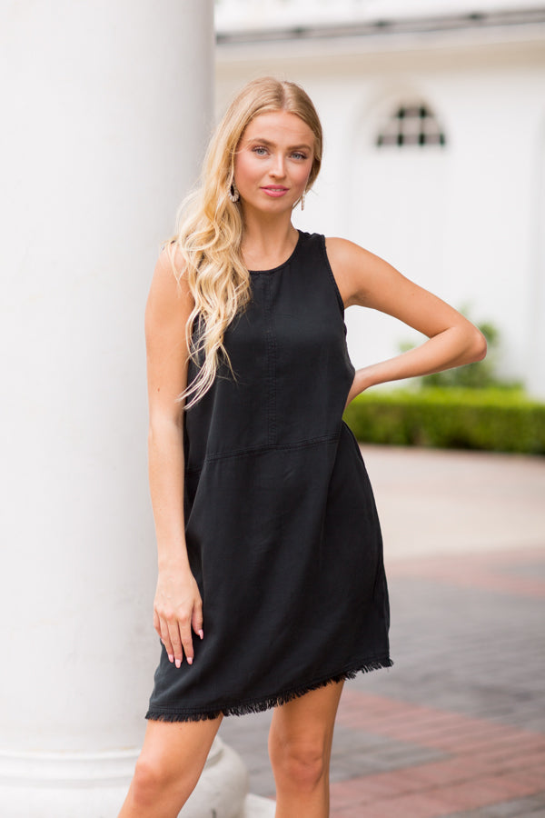 Easy As Can Be Dress- Vintage Black