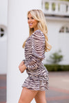 A Wild Stripe Dress - Zebra