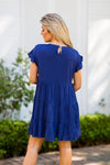 Standing At The Shoreline Dress - Navy