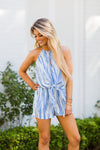 April Showers Romper - Blue