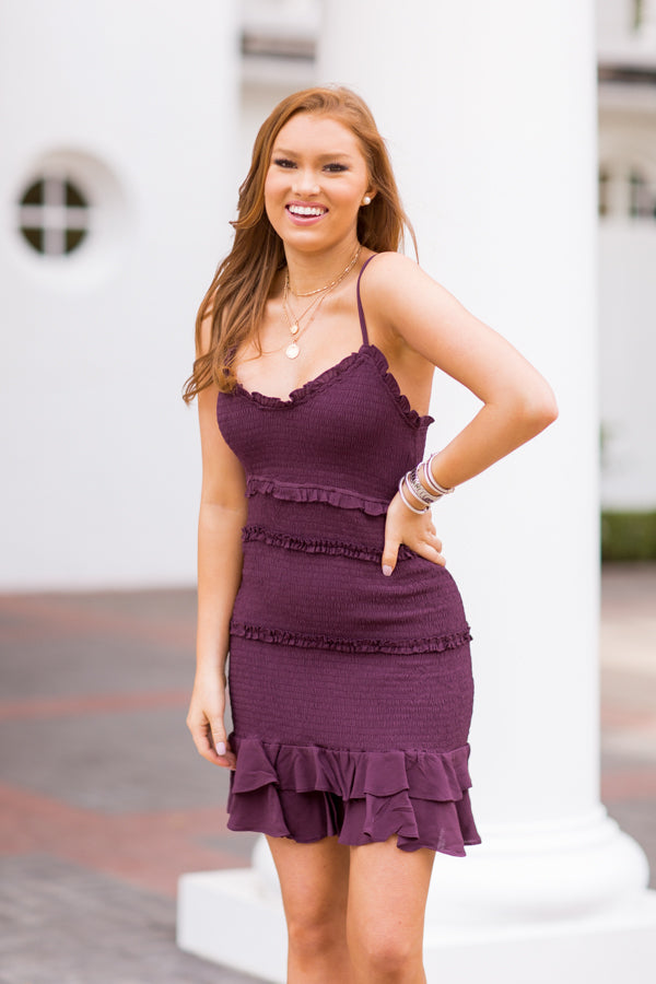 Team Spirit Dress - Plum